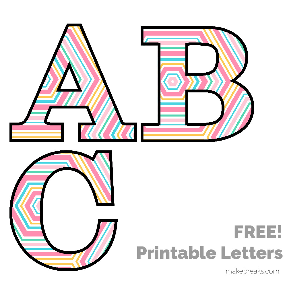 graphic about Free Printable Clip Art Letters known as Spring Easter Practice Free of charge Printable Letters - Produce Breaks